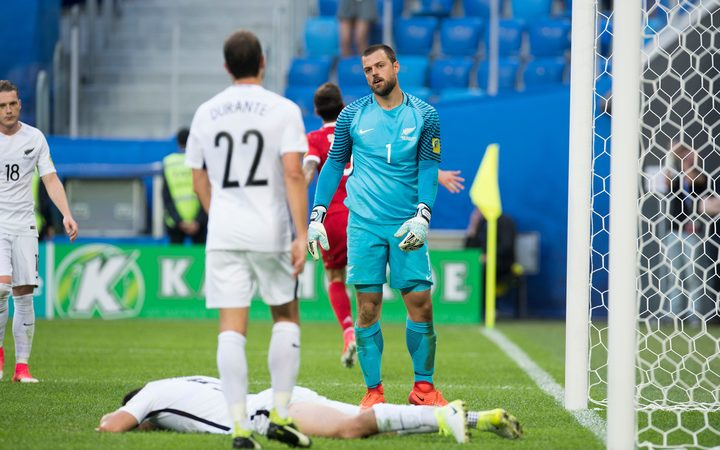 All Whites concede a goal to Russia at 2017 Confederations Cup.