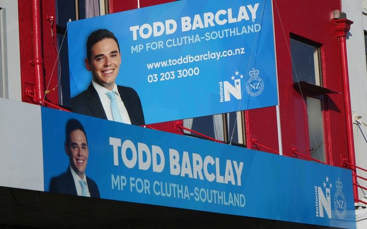 Todd Barclay's Gore electorate office.