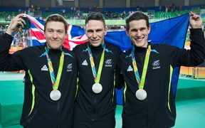 Ethan Mitchell, Eddie Dawkins and Sam Webster were the only New Zealand cyclists to win a medal at the Rio Olympics.