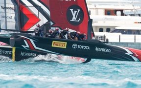 Simon van Velthooven is now part of Team New Zealand's cycling grinders at the America's Cup.