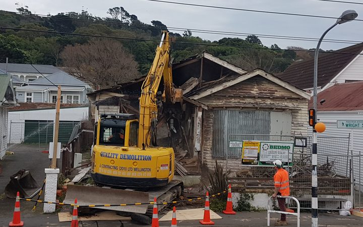 The house in Mt Cook is demolished