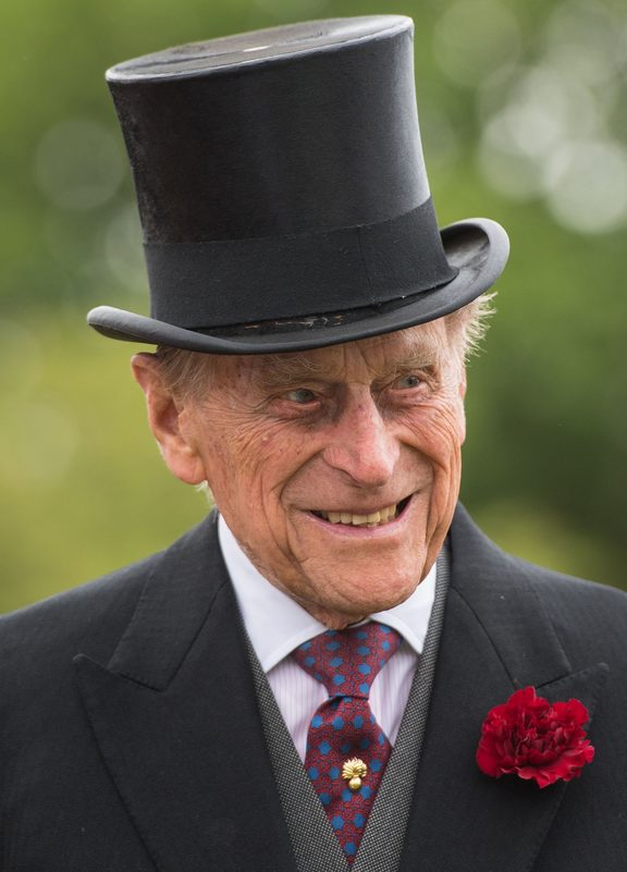 Prince Philip at the start of a special garden party at Buckingham Palace last month.