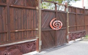 The gates of Awataha Marae, where the interns were staying.