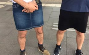 Bus drivers in Nantes got round the no-shorts-to-work policy by wearing skirts.