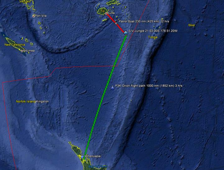 Air Force finds NZ yacht stuck on reef off Fiji | RNZ News