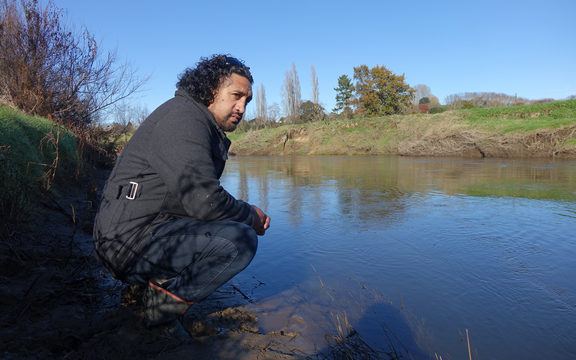 Quinton Tunoho is kaitiaki of a marae-based group planting native trees to help restore the Puniu River