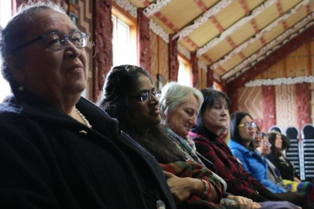 Ann Dysart and participants at Huarahi Hou Hui.