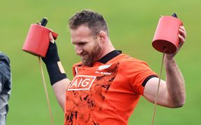 Kieran Read at training ahead of the All Blacks first test against the British and Irish Lions.