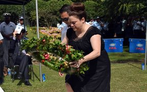 Family members of RAMSI personnel who died, attended the memorial