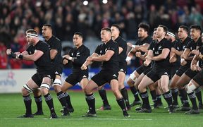The haka before the match.