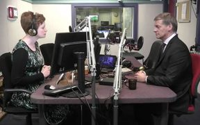 PM Bill English soeaks to Susie Ferguson in RNZ's Wellington studio.
