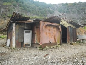 An abandoned building at Panguna mine site in Bougainville