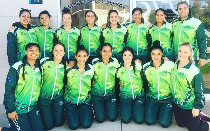 The Cook Islands U21 netball team at a recent training camp.