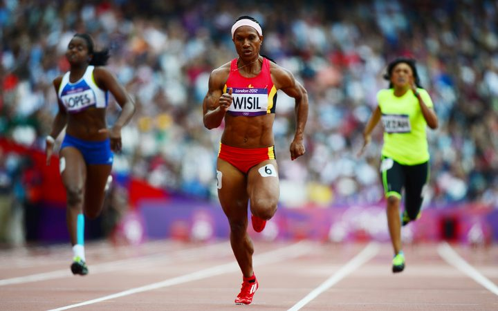 Toea Wisil in action at the 2012 London Olympics.