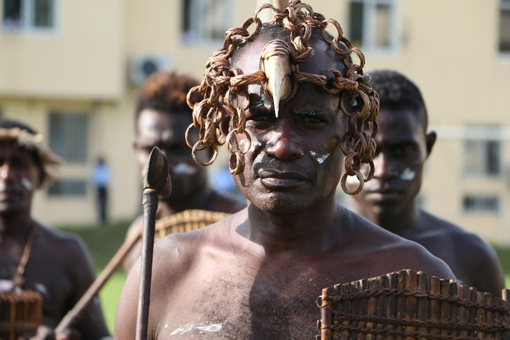 Solomon Islands RAMSI  ceremony