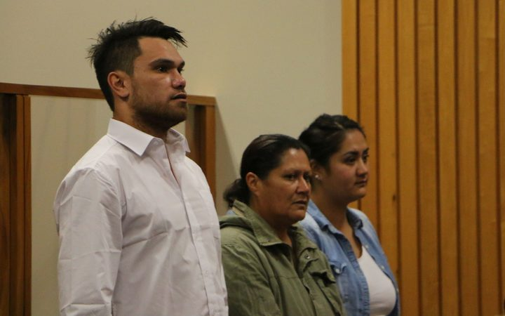 From left, Shane Christopher Neil, Donna Parangi and Lacey Te Whetu.
