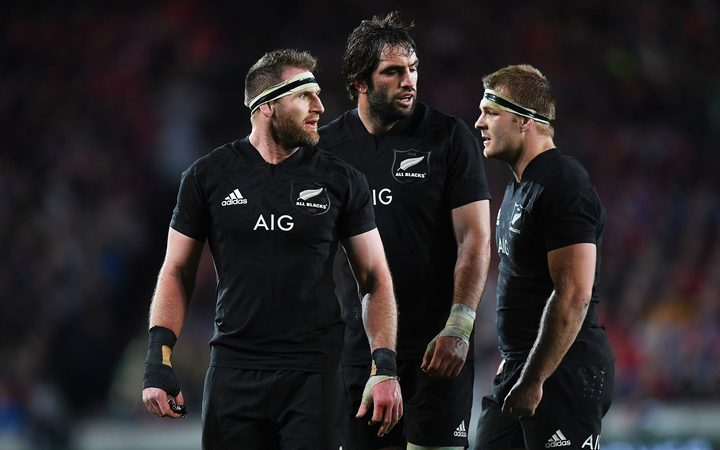 All Blacks Kieran Read Sam Whitelock and Sam Cane
