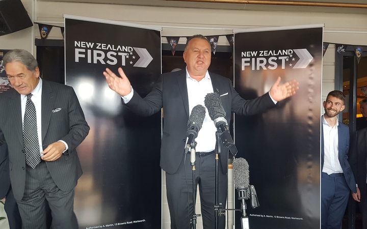 Shane Jones announces he will be the New Zealand first candidate for Whangarei.
