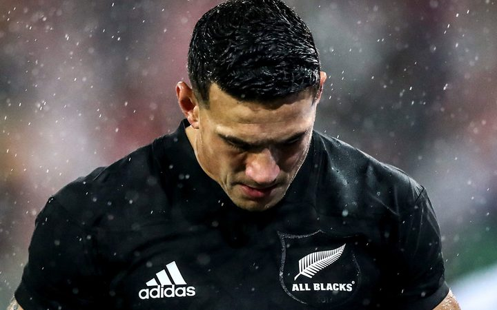 Sonny Bill Williams after being shown the red card by referee Jerome Garces.