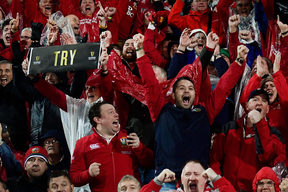 Lions fans in Wellington