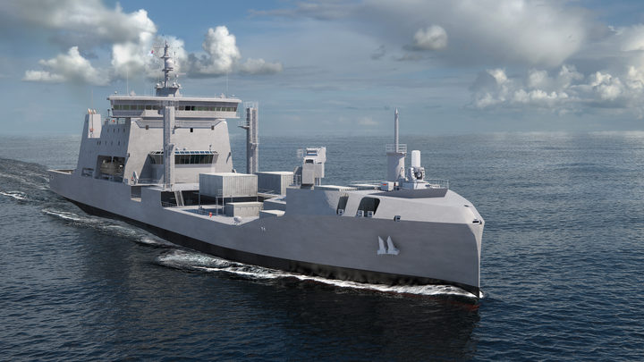An artist's impression of HMNZS Aotearoa.