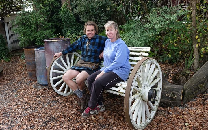 Greg and Ali Lang from the Wheelwright shop in Gladstone.