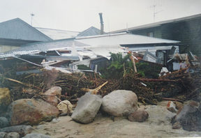 Homes in Matata were destroyed by flooding and debris in 2005.