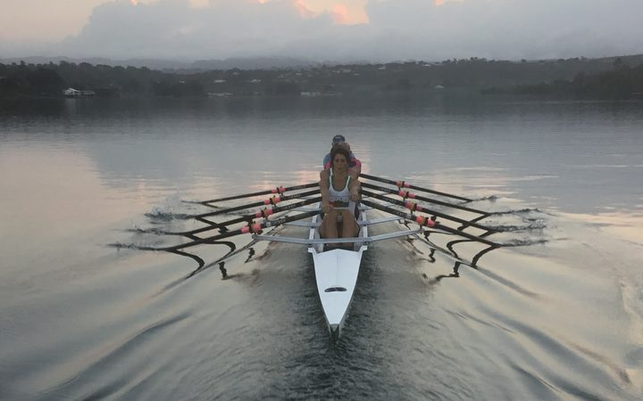 The mixed masters quad training in Port Vila.