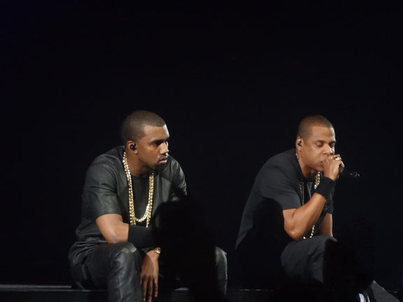 Jay Z performing with Kanye West