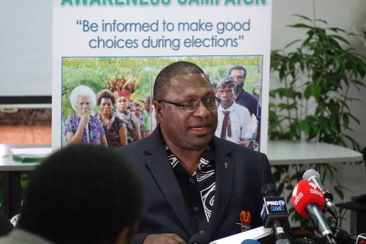 Papua New Guinea's Electoral Commissioner Patilias Gamato.