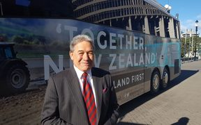 Winston Peters heads out on the campaign trail.
