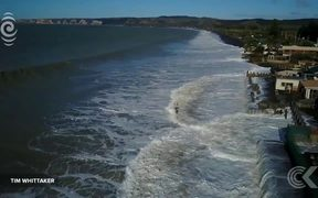 Waves lap at Hawke's Bay homes after coastline disappears