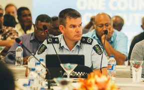 Solomon Islands' police commissioner Matthew Varley.