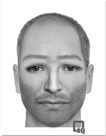 A police identikit picture of a man sought over the disappearance of Frederick Hayward in 2013.