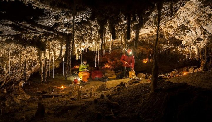 Cave camp - six hours from the surface - hear Marcus Thomas and Neil Silverwood with Kim at 11:30am