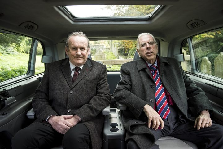 Colm Meaney and Timothy Spall in The Journey.