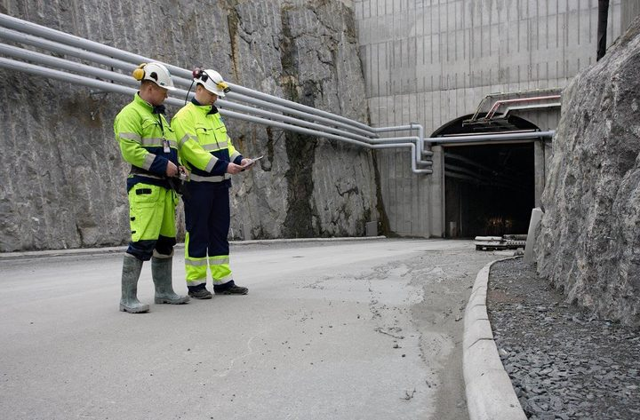 Tunnel entrance at Olkiluoto