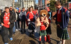 Lions fans out and about in Auckland before the final Test.