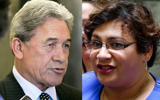 New Zealand First leader Winston Peters and Green Party co-leader Metiria Turei.