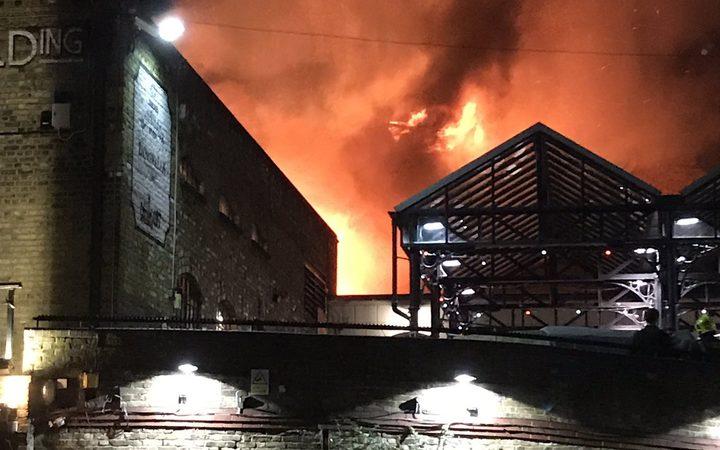 Dozens Of Firefighters At Camden Market Blaze