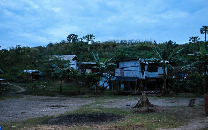 One of the houses created by settlers in April Valley, east of Honiara. About 100 people were resettled here after devastating floods in 2014.