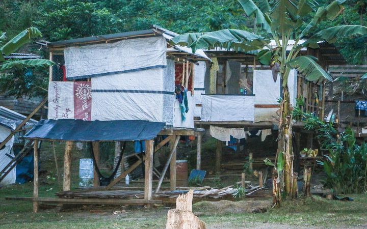 A house in April Valley, Solomon Islands