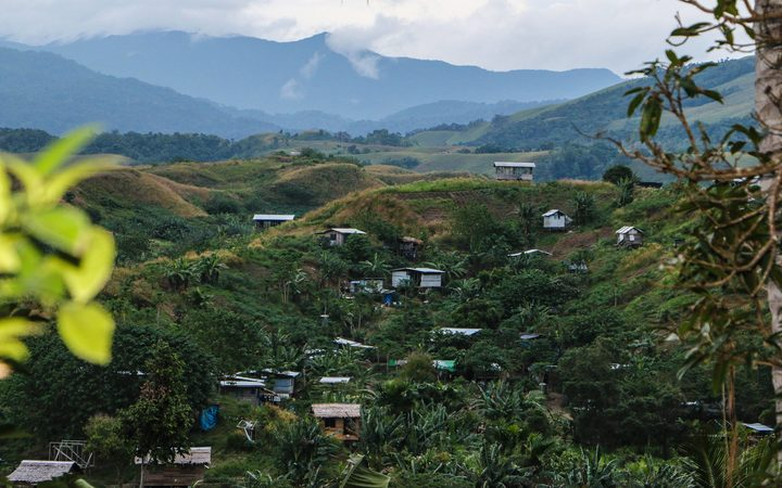 April Valley, to the east of Honiara, Solomon Islands. Residents left homeless by floods in 2014 were relocated here, but little assistance has followed.