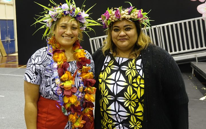 Sacred Heart teacher and Polyfest volunteer Sinapi Taeao, (left),  and Polyfest organiser Luana Leuluai