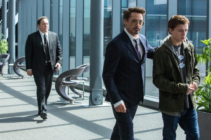 Original director of Iron Man, Jon Favreau (left), is the only member of the team who can devote more than a day on set to Spider-Man: Homecoming so he gets more to do. Downey Jr.? Not so much.
