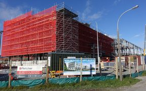 The new hospital being built in Greymouth.