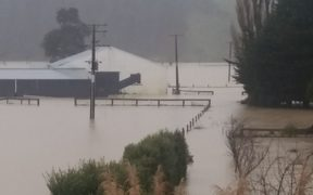 Simon McKay said it is the worst flooding he has seen on his farm north of Masterton in a dozen years.