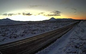The Desert Road remains closed after heavy snowfall this week.