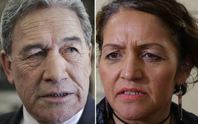 New Zealand First leader Winston Peters and Māori Party co-leader Marama Fox.