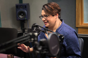 Green Party co-leader Metiria Turei in RNZ's Auckland's studio.